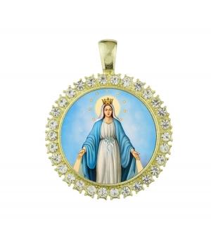 Medalla Virgen circonita