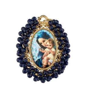 Medalla Virgen y Jesús