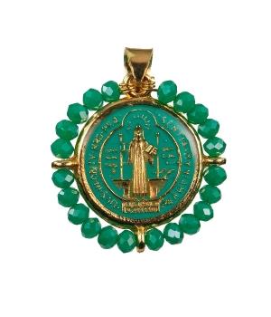 Enameled Saint Benedict Medal